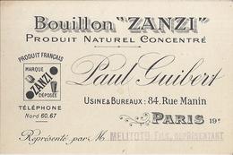 """BOUILLON """"ZANZI""""  PRODUIT NATUREL CONCENTRE- PAUL GUIBERT -PARIS  RUE MANIN  19è Représenté Par M. MELITOTO FILS - Sin Clasificación"""