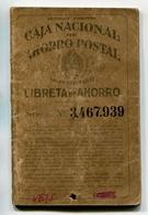 LIBRETA DE AHORRO - CAJA NACIONAL DE AHORRO POSTAL, ARGENTINA AÑO 1947, CON SELLOS FISCALES Y MATASELLOS - LILHU - Facturas & Documentos Mercantiles