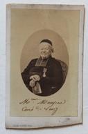 CDV Photo Monseigneur Maupas Curé De Vassy  De 1815 à 1865  Calvados Photogaphe Léon Ruppé à Vire - Personnes Identifiées