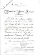 VALISE DIPLOMATIQUE N° 2703  -MINISTERE DES AFFAIRES ETRANGERES-RF- PARIS JUIN 1975 - Documents