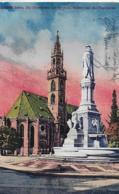 AK 0273  Bozen -  - Die Pfarrkirche Und Denkmal Walters Von Der Vogelweide Um 1923 - Bolzano (Bozen)