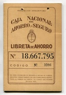 LIBRETA DE AHORRO - CAJA NACIONAL DE AHORRO POSTAL, ARGENTINA AÑO 1985, CON SELLOS FISCALES Y MATASELLOS - LILHU - Facturas & Documentos Mercantiles