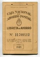 LIBRETA DE AHORRO - CAJA NACIONAL DE AHORRO POSTAL, ARGENTINA AÑO 1972, CON SELLOS FISCALES Y MATASELLOS - LILHU - Facturas & Documentos Mercantiles