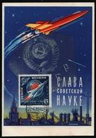 Russia / Sowjetunion 1961 - Mi-Nr. 2468 A - Maxikarte - Raumfahrt - Briefe U. Dokumente
