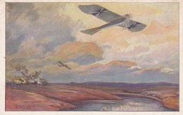 AK Militärtaube Auf Erkundunsflug Bei Den Masurischen Seen - Deutscher Luftflotten-Verein - 1. WK (42201) - Aviateurs