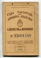 LIBRETA DE AHORRO - CAJA NACIONAL DE AHORRO POSTAL, ARGENTINA AÑO 1974, CON SELLOS FISCALES Y MATASELLOS - LILHU - Facturas & Documentos Mercantiles