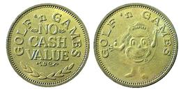 01053 GETTONE TOKEN JETON FICHA GOLF AND GAMING NO CASH VALUE - USA