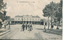 N°73958 -cpa Chartres -la Gare- - Stations Without Trains
