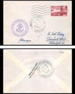 9846 Maritime Chargeurs Reunis Claude Bernard N°1036 Pauillac Gironde Allemagne Deutschland France Lettre Cover - Marcophilie (Lettres)