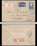 9860 N°858 Turgot 852 Upu 1950 Vitry-la-Ville Marne Charleville Ardennes France Lettre Recommande Cover - 1921-1960: Modern Period