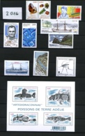 TAAF - 2016 - Année Complète - Timbres Et Blocs - Neufs N** - Très Beaux - French Southern And Antarctic Territories (TAAF)