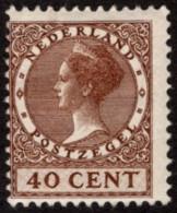 NTH SC #158 MH (HR) 1924 Q Wilhelmina CV $35.00 (H) - Period 1891-1948 (Wilhelmina)
