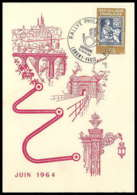 9948 N°1416 Rallye Philatec Longwy 1964 France Carte Postale Postcard - Cachets Commémoratifs