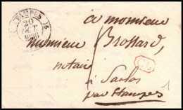 9950 Lac Cl Correspondance Locale Saclas Etampes 1836 Marque Postale France Lettre Cover - Marcophilie (Lettres)