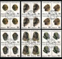 Tanzania 1992 - 1363/68 Masques Bl De 4 / Maskers Blokken Van 4  Obl/gebr/used - Tanzanie (1964-...)