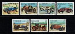 Laos 1984 Yv 569/75**, Mi 750/56** Cars / Oldtimesrs / Voitures / Auto's MNH - Laos
