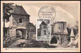 9990 N°921 Porte De France Vaucouleurs Fdc 1952 France Carte Maximum Card - Cartoline Maximum