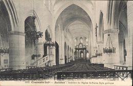 2112 Charente-infre Saintes Intérieur De L'Eglise St-Pierre Style Gothique 1915 - Saintes