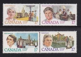 CANADA 1981  MNH Stamp(s) Feminists 790-793 - 1952-.... Règne D'Elizabeth II