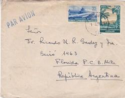 1935 COVER CIRCULEE PAR AVION TURKEY TO ARGENTINE - BLEUP - 1921-... República