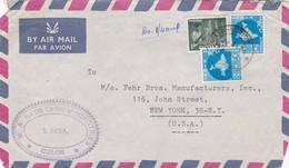 1953 AIRMAIL COVER CIRCULEE INDIA TO USA - BLEUP - 1950-59 República