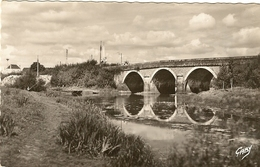 Cpsm Gf - 49 - CHALONNES SUR LOIRE -  Le Pont De Layon 9 - Chalonnes Sur Loire