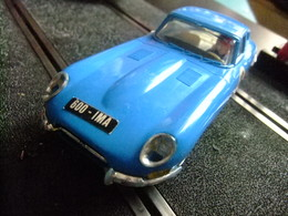SCALEXTRIC Exin JAGUAR E Ref. C 34 Azul Made In Spain - Circuitos Automóviles