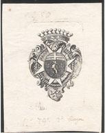 Ex-libris GRISET DE FOREL, Joseph François Nicolas (1701-1786). Fribourg. - Ex Libris