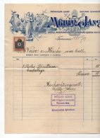 1908 ROMANIA, TIMIȘOARA, MULLER JANOS, INVOICE ON COMPANY LETTERHEAD, 1 FISKAL STAMP - Invoices & Commercial Documents