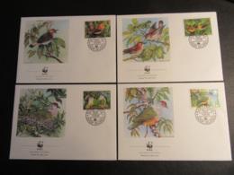 COOK ISLANDS - 1989 - WWF - UCCELLI DA PROTEGGERE - BIRDS - FDC - Cook