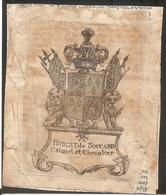 Ex-libris Joseph-Hubert De BOCCARD  († 1795). Fribourg. - Ex Libris