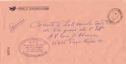 LSC 1987 - Cachet DIRECTION AMBULANTS- Nord Et Est  / Griffe Comité D'Entraide Des PTT De La Ligne De L'Est - Manual Postmarks