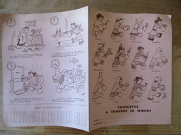 FAMILLETTE A TRAVERS LE MONDE (FAMILISTERE)  PROTEGE-CAHIER ROSE - Book Covers