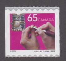 CANADA, 2002, # 1928, COIL, TRADITIONAL TRADES : JEWELRY, BIGOUX      MNH - Neufs