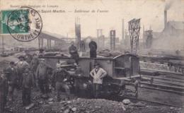 Mont-Saint-Martin Intérieur De L'Usine Circulée En 1909 - Mont Saint Martin