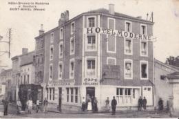 Saint-Mihiel Hôtel-Brasserie Moderne J.Boutiers Circulée En 1914 Cachet Militaire Voir Verso - Saint Mihiel