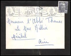 Lettre (cover) 5627 Marianne De Gandon 1952 Arles Pour L'Abbé Thomas Miribel Ain - 1945-54 Marianna Di Gandon