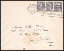 Lettre (cover) 5667 Marianne De Gandon 1951 MONTPELLIER Pour L'Abbé Thomas Miribel Ain - 1945-54 Marianna Di Gandon