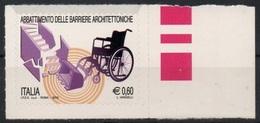 """Italia - Repubblica 2012 """"Abbattimento Delle Barriere Architettoniche €. 0,60"""", Nuovo - 2011-...: Mint/hinged"""