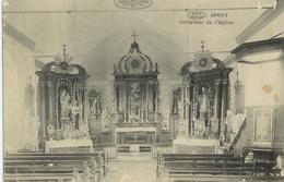 Opont - Intérieur église - Circulé 1925 - VIP Phototypie Préaux Frères - Paliseul