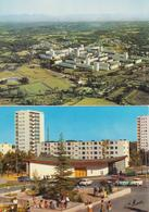 Lot De 2 CPSM Mourenx-Ville-Nouvelle - Vue Générale / Le Jardin Japonnais (pour Japonais) - Autres Communes