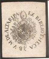 Ex-libris Couvent Des Cisterciens D'HAUTERIVE. Fribourg. XVIIIe Siècle. - Ex Libris