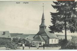 Opont - Eglise - Petite Animation - Circulé 1908 - Edit. Anciaux Delogne - SUPER - Paliseul