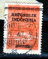 """INDONESIA 1947  OVERPRINTED  60 C STAMP """"REPOEBLIK INDONESIA"""" USED - Indonesia"""