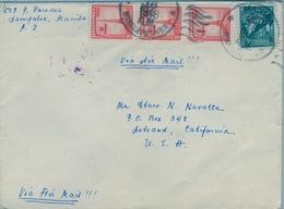 1948 , FILIPINAS / PHILIPPINES , SOBRE CIRCULADO , MANILA - SOLEDAD ( CALIFORNIA ), CORREO AÉREO - Filipinas