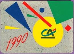 Calendrier °° 1990 - Banque C.A - Géométrie - 8x11 - Calendriers