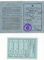 1934 YUGOSLAVIA, CROATIA, ZAGREB, GUN PERMIT, ISSUED BY ZAGREB POLICE, 2 FISKAL STAMPS - Historical Documents