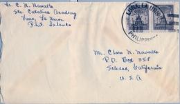 1948 , FILIPINAS / PHILIPPINES , SOBRE CIRCULADO , LUNA , LA UNIÓN  - SOLEDAD ( CALIFORNIA ) - Filipinas