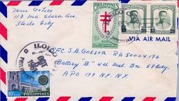 1961 , FILIPINAS / PHILIPPINES , SOBRE CIRCULADO , ILOIDO - NUEVA YORK - Filipinas