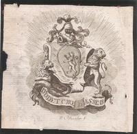 Ex-libris Jean-Baptiste D'ODET D'ORSONNENS (1752-1803). Fribourg. - Ex Libris